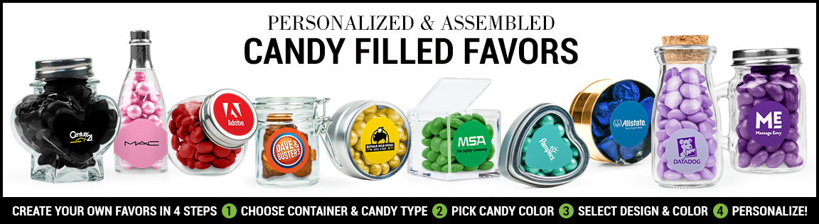 personalized marketing candy filled favors