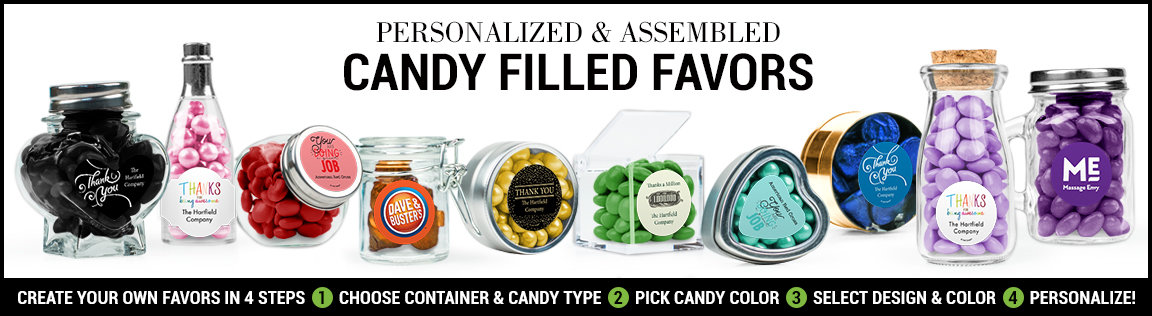 personalized thank you candy filled favors